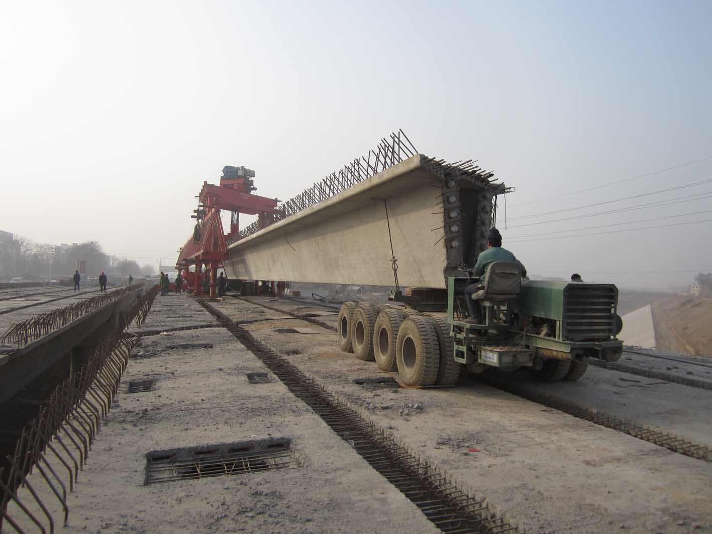 Construciton Sidelights for beam launcher and girder carrier